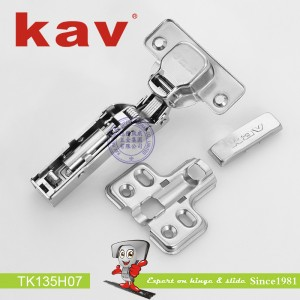 一段力阻尼铰链拆装 TK135H07