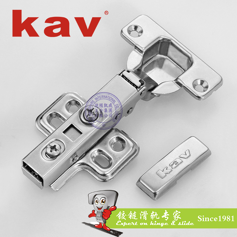K304H 304不锈钢液压铰链(卡式) 直弯