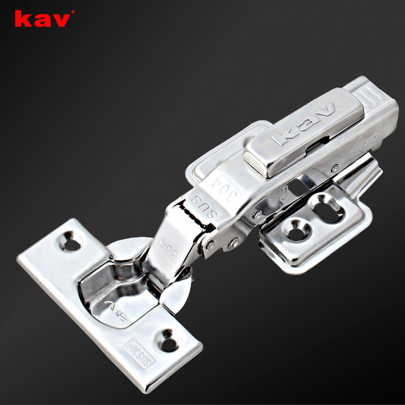 kav凯威五金 304不锈钢液压铰链 1.8厚加厚款缓冲铰链 厂家直销ELS304H-3/ELK304H-3