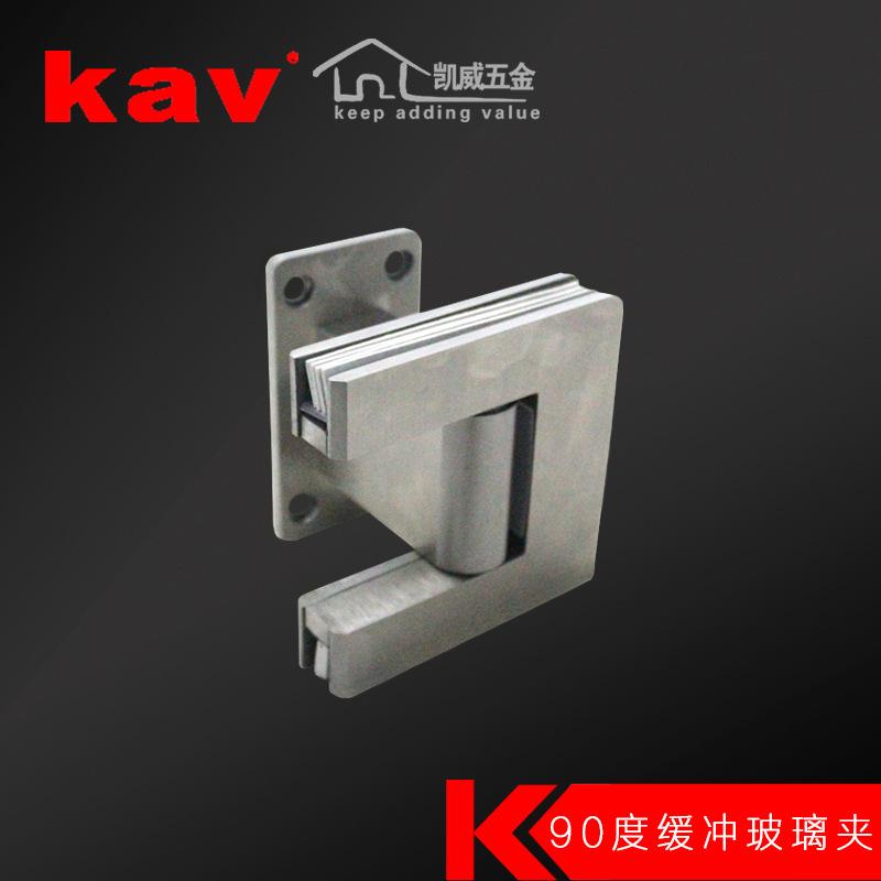 304不锈钢浴室夹90度玻璃夹无框钢化玻璃门夹铰链合页淋浴房配件
